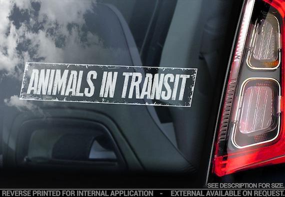 Animals in Transit - Car Window Sticker - Dog Bumper Sign Decal Gift - V02