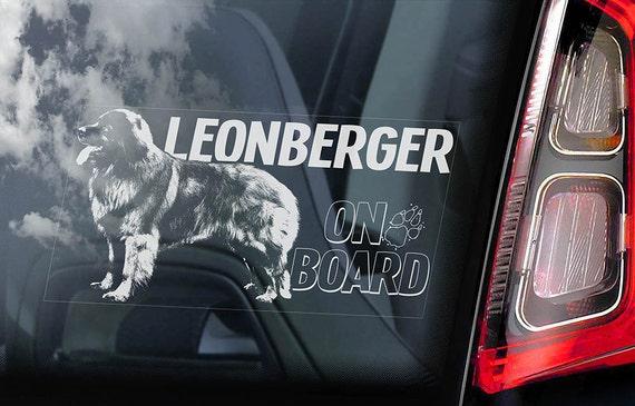 Leonberger on Board - Car Window Sticker - Dog Sign Decal Art Gift - V03