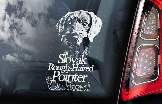 Slovak Rough-haired Pointer - Car Window Sticker - Slovensky Hrubosrsky Stavac Dog Sign Decal Sign - V01
