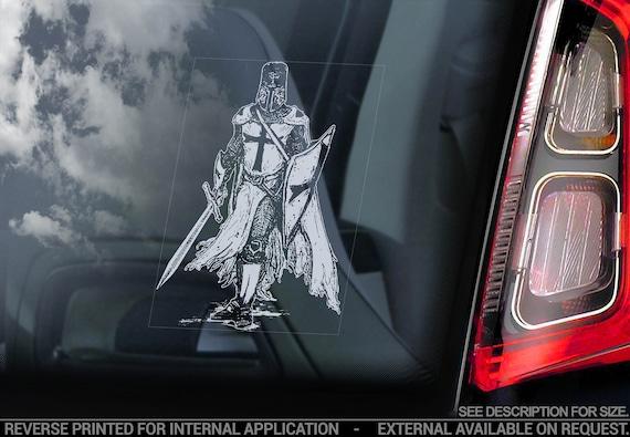 KNIGHTS TEMPLAR Car Sticker - Masonry Freemason Illuminati Window Decal Logo Sign - V03
