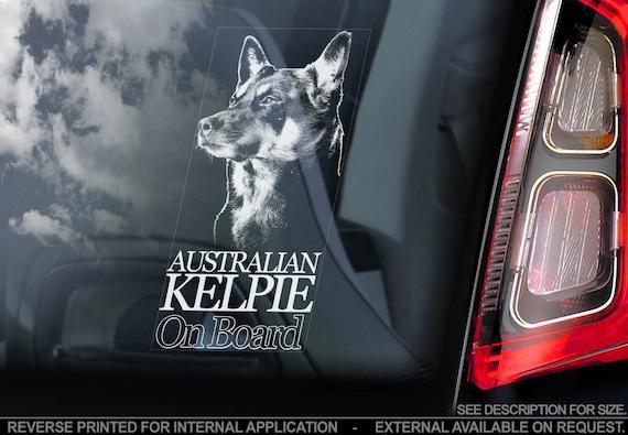 Australian Cattle Dogs Car Window Sticker Cattledog Dog Board Decal Sign V01