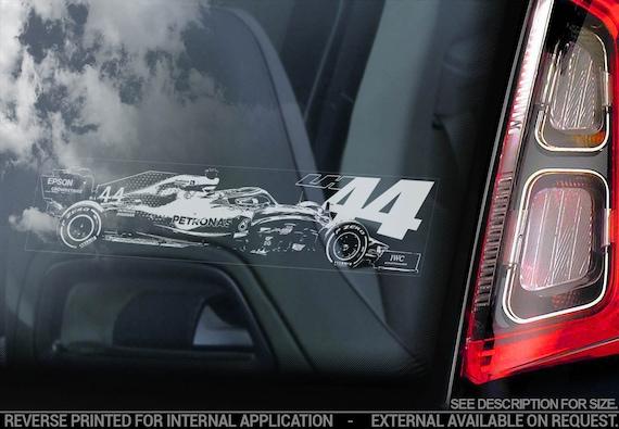 LEWIS HAMILTON #44 Car Sticker, Formula One F1 Window Decal Sign Gift Idea - V10