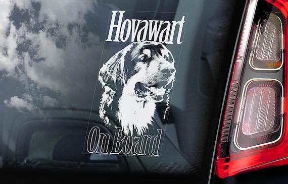 Hovawart on Board - Car Window Sticker - Hovie Dog Sign Decal - V02