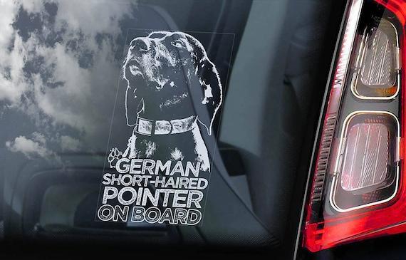 Car Window Sticker German Shorthaired Pointer Deutsch Kurzhaar Dog Decal V04