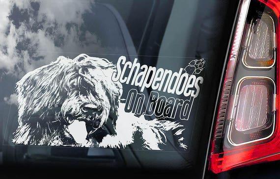 Schapendoes on Board - Car Window Sticker - Dutch Sheepdog Dog Sign Decal - V02