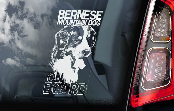 Pyrenean Mountain Dog Great Pyrenees Dog on Board Sign Car Window Sticker