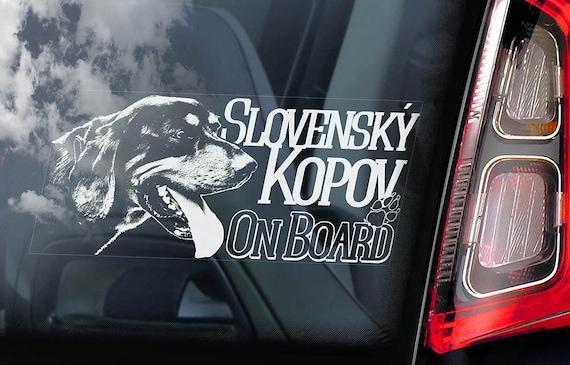Slovenský kopov - Car Window Sticker - Slovak Hound Dog Sign Decal Sign - V01