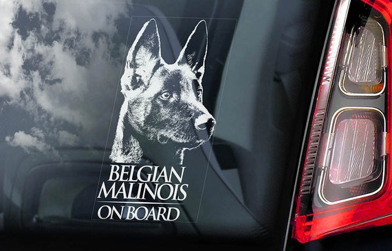 Belgian Malinois Euro Oval Sticker Decal Vinyl dog canine