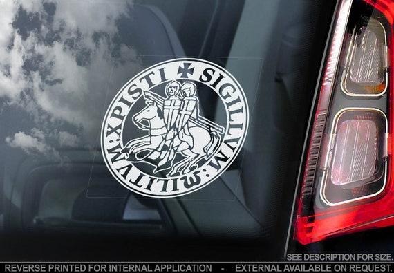 KNIGHTS TEMPLAR Car Sticker - Masonry Freemason Illuminati Window Decal Logo Sign - V01