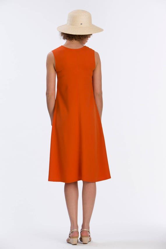 Dress Dress Orange Nicole V neck PqvxC