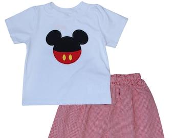 Mickey Red Shorts Set