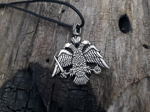 Imperio Bizantino doble de cabeza de águila Bizantino Collar Ortodoxa Imperial