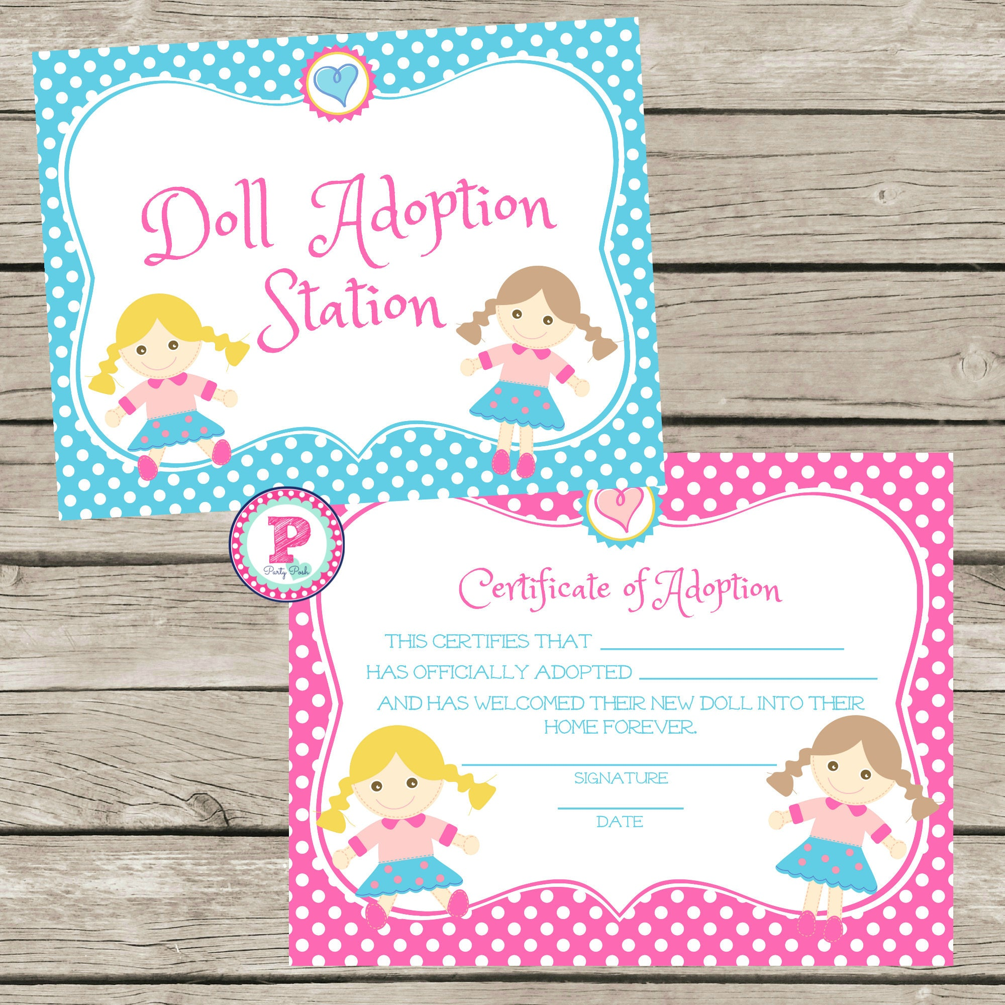Doll Adoption Station and Adopt a Doll Adoption Certificate | Etsy