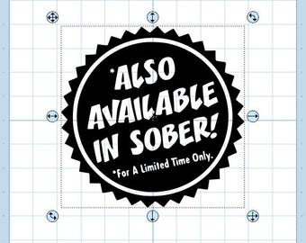 Also available in sober ... svg