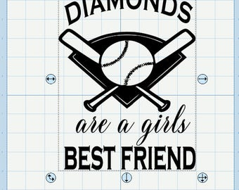 Diamonds are a girls best friend. File includes svg, pdf, png, jpg, eps and dxf.
