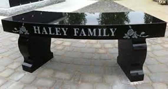 Tremendous Granite Bench Curved Seat Memorial Engraving Available Free Shipping To Qualified Locations Ibusinesslaw Wood Chair Design Ideas Ibusinesslaworg