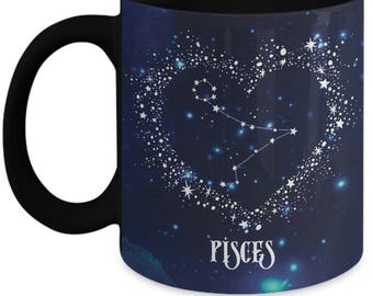 Pisces Zodiac Sign Coffee Mug, Water Color Dark Sky, 2 Designs in 1,  Astrology, Horoscope, Pisces Gifts, Pisces  Mugs, Gifts for Pisces