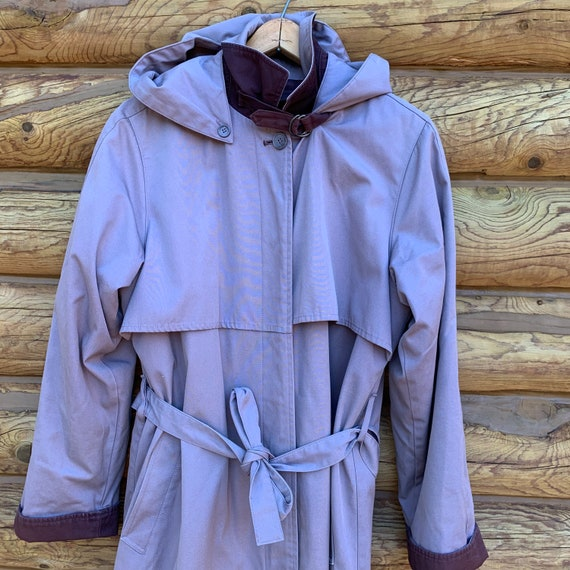 Vintage 80s Purple Lavender London Fog Trench Coat - image 2