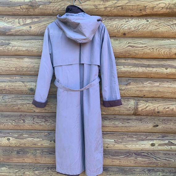 Vintage 80s Purple Lavender London Fog Trench Coat - image 3