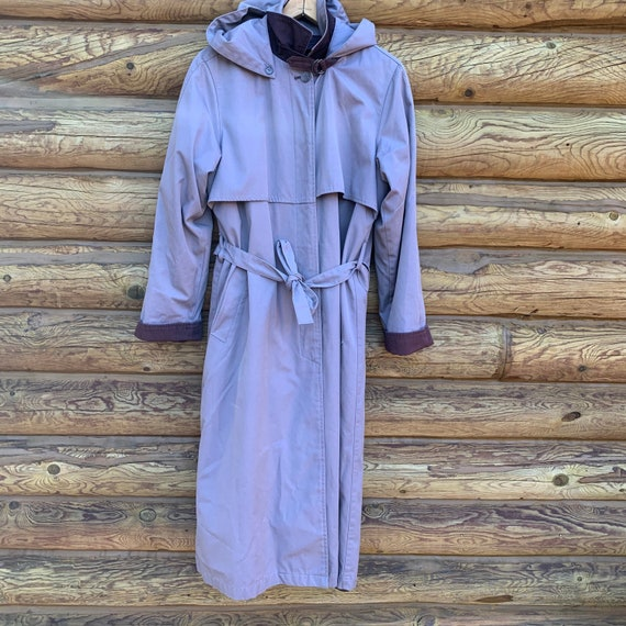 Vintage 80s Purple Lavender London Fog Trench Coat - image 1