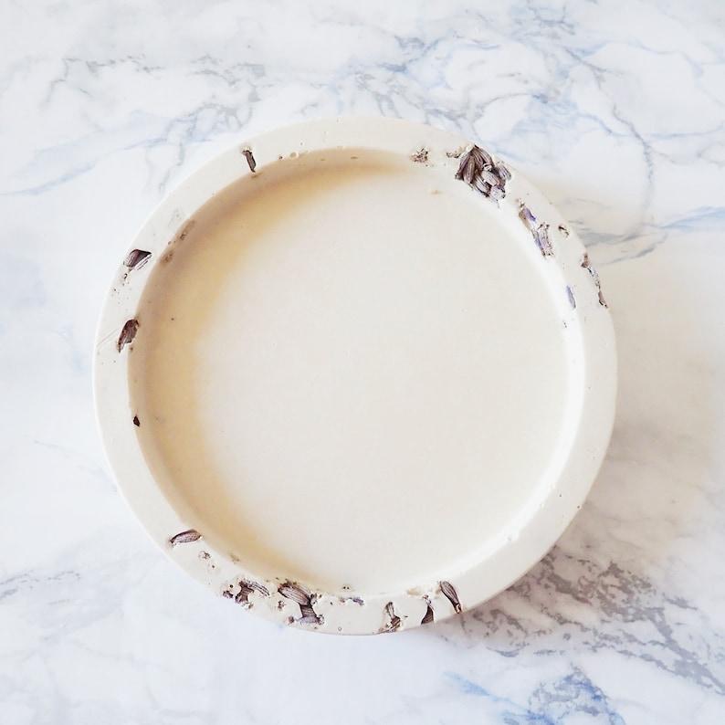 Natural candle holder: Organic Lavender image 0