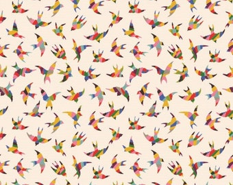 Kaleidoscope Bird fabric