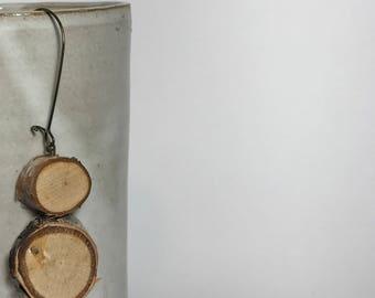 Handmade Birch Wood Earrings