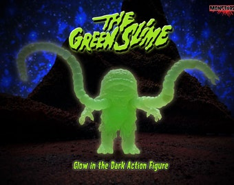 """The Green Slime GLOW 3.75"""" Scale Retro Action Figure"""