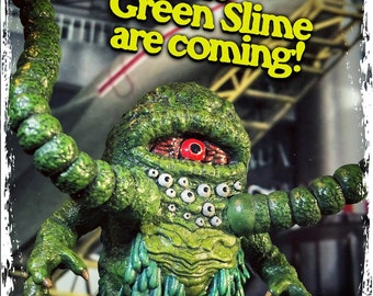 """The Green Slime 3.75"""" Scale Retro Action Figure"""