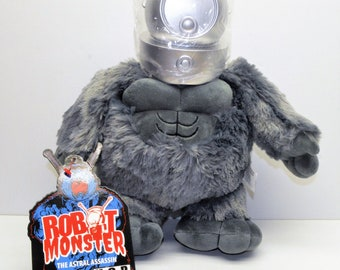 ROBOT MONSTER 14in Plush with Removable Helmet Ro-Man Classic Sci-Fi Monster!