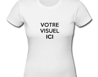 white t-shirt personalized with your own design