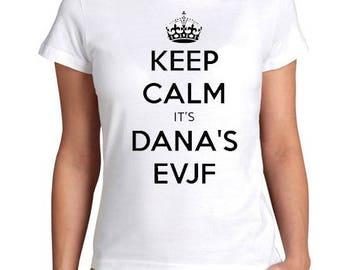 custom bachelorette party Bachelorette girl keep calm t-shirt