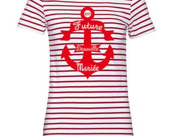 Personalized sailor T-Shirt red and white anchor personalized bachelorette party