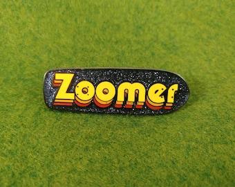 Stranger Things Max inspired ZOOMER Skateboard enamel pin