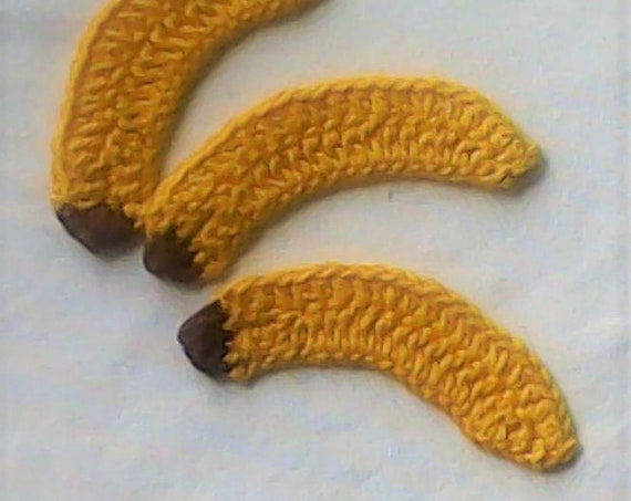 Crochet Banana application, Crochet crocheted in yellow Scrapbooking card Design And Clothing decorate