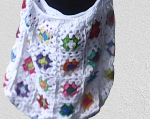 Crochet tote bag, Granny Square bag, crochet bag, crochet shoulder bag