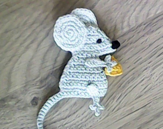 Mouse bookmark crochet gifts animal bookmark teacher gift book lover gift