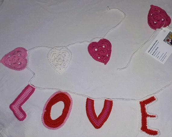 Valentine Heart love garland or bunting