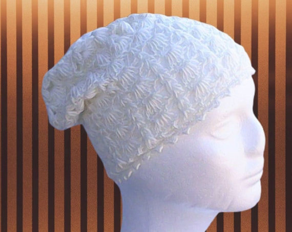 Cream Crochet Slouch Hat, Slouchy Beanie Off White Crochet, Slouch Hat Beige Crochet Hat Crochet Women Hat Slouchy Hat Slouch Tam