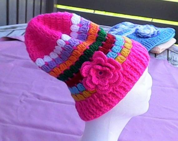 Hats Girls Fashion Beanie Crochet Hats Hats Women Kids slouchy Pink Cap Crochet Caps Women Caps Children's Clothing Warm Winter Fashion