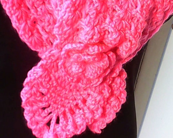 Handmade crochet collar, pink cotton collar, crochet accessory necklace for girls