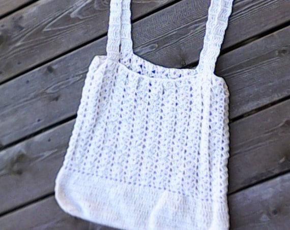 Hand crochet market bag, eco friendly, tote bag, beach bag, food bag, reusable French market bag