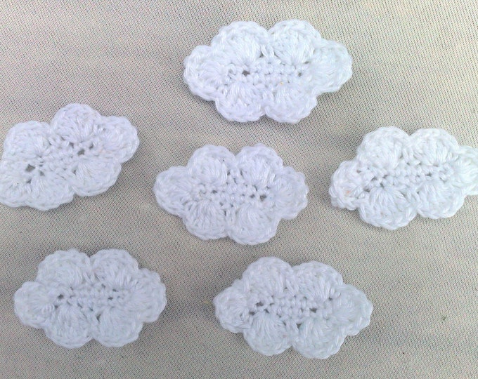 6 pieces of white cloud patch for children's clothes and baby clothes