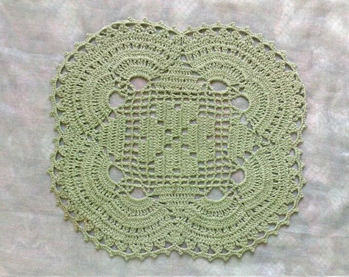 Shamrock Clover Crochet in green