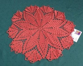 Big Brown crochet cover 18 inches a dream and eye-catcher for your home in a country house style