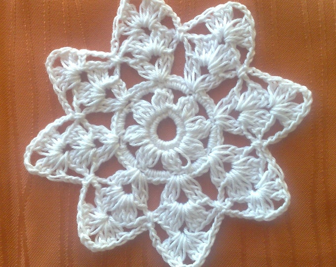 Christmas Tree Ornament Crochet snowflake 4.5 ""