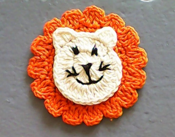 Crochet application Lion patch up Africa zoo animals for sewing lion, crochet application, application, lion application, patch up, crochet image