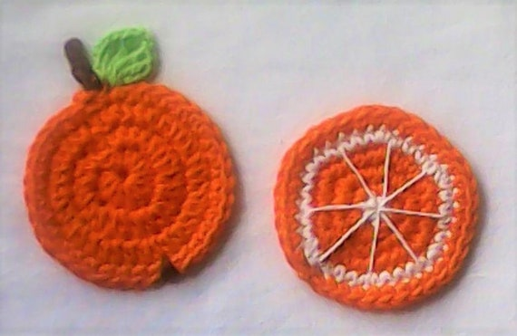 Crochet Application Orange Oranges Sweet Fruit patch Up
