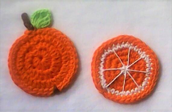 Crochet Application Orange Oranges Sweet Fruit patch Up