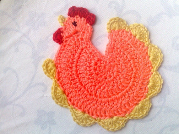 Mother's Day gift crochet chicken faucet beer lid kitchen orange Ornaments Party Gift